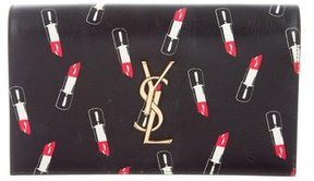 Saint Laurent Monogram Lipstick Clutch - BLACK - STYLE
