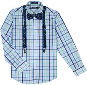 Izod Green Plaid Button-Up Set - Boys