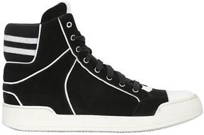 Balmain Suede High Top Sneakers