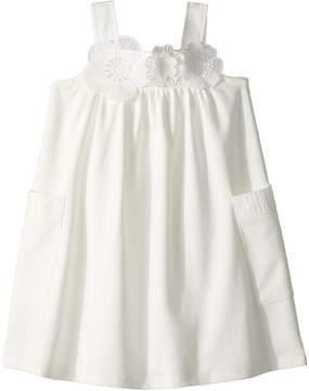 Chloé Kids Flowers Embroideries Pockets Details Dress Girl's Dress