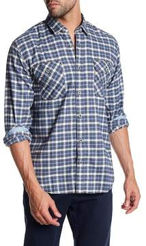 James Campbell Gonzalo Plaid Long Sleeve Regular Fit Shirt
