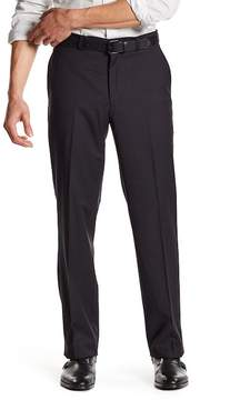 Kenneth Cole New York Black Micro-Check Flat Front Dress Pant