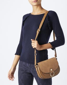 Rosa Ring Detail Saddle Bag