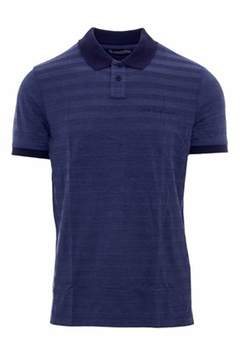 Calvin Klein Jeans Men's Blue Cotton Polo Shirt.