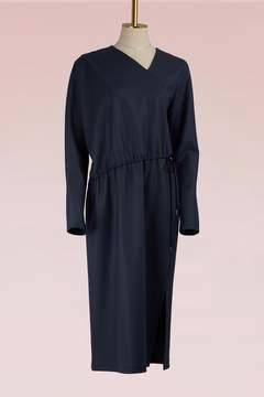 Jil Sander Asymmetric Woolen Dress