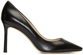 Jimmy Choo Black Leather Romy Heels