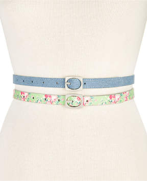 INC International Concepts I.n.c. 2-for-1 Textured Skinny Belt Set, Created for Macy's