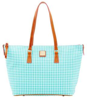 Dooney & Bourke Small Gingham Zip Top Shopper Tote - SEA FOAM - STYLE