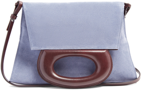 LEMAIRE Suede clutch bag