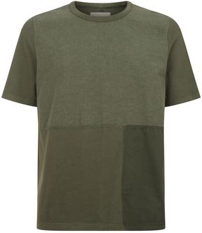 Folk Patched Fabric T-Shirt