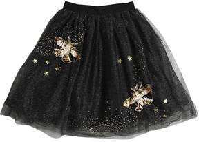 Billieblush Sequins Embroidered Stretch Tulle Skirt