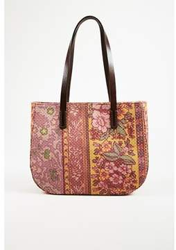 Etro Pre-owned Multicolor Floral Printed Canvas & Leather Top Handle Bag.