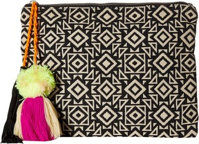 San Diego Hat Company - BSB1696 Woven Pattern Canvas Clutch Clutch Handbags