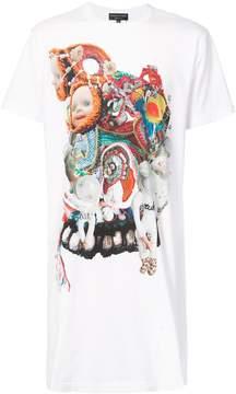 Comme des Garcons longline graphic print T-shirt