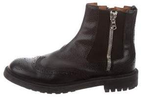 Givenchy Leather Wingtip Ankle Boots