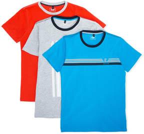 Emporio Armani Kids pack of three logo print T-shirts