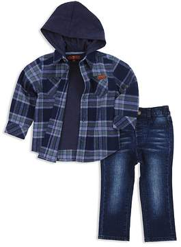 7 For All Mankind Boys' Plaid Hoodie, Tee & Jeans Set - Baby