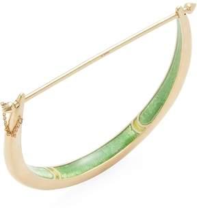 Amrapali Women's 18K Yellow Gold Crescent Bangle Bracelet