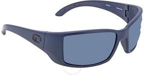 Costa del Mar Blackfin Large Grey Rectangular Sunglasses BL 14 OGP