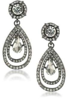 ABS by Allen Schwartz Set In Stone Crystal Double Teardrop Earrings