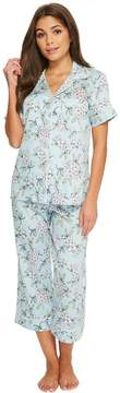 BedHead Short Sleeve Cropped Pants Pajama Set Women's Pajama Sets