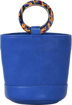 Simon Miller Bonsai Blue Leather Mini Bucket Bag