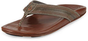 OluKai Po'okela Leather Thong Sandal