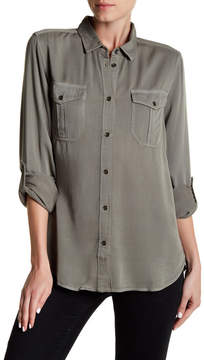 Adrienne Vittadini Twill Button Down Shirt