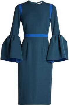 Roksanda Nair bell-sleeved crepe pencil dress