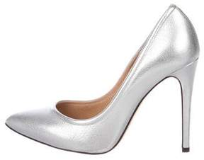IRO Leather Pointed-Toe Pumps