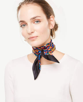Ann Taylor Mini Floral Silk Little Scarf