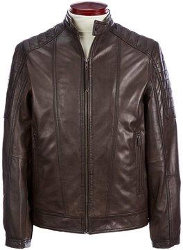 Murano Lambskin Leather Moto Jacket