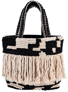 Women's San Diego Hat Company Woven Shopper Bag BSB3544