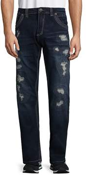 Affliction Men's Distressed Straight Jeans