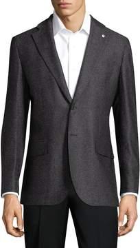 Lubiam Men's Solid Wool Sportcoat