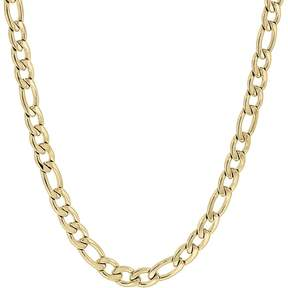 Lynx Yellow Ion-Plated Stainless Steel Figaro Chain Necklace - 22 in. - Men