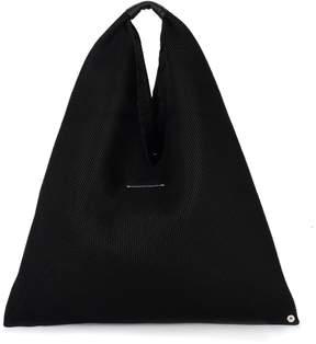 MM6 MAISON MARGIELA Black Scuba Pierced Fabric Shopper