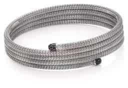 John Hardy Classic Chain Black Sapphire & Sterling Silver Small Multi-Row Coil Bracelet