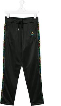 Marcelo Burlon County of Milan Kids x Kappa logo stripe track pants