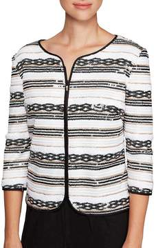 Alex Evenings Sequin Stripe Jacket