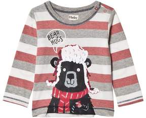 Hatley Red and Grey Bear Hugs Tee
