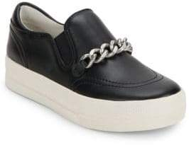 Ash Leather Slip-On Sneakers