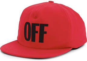 Off-White OFF cotton snapback cap