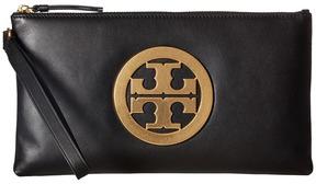 Tory Burch Charlie Clutch Clutch Handbags - BLACK - STYLE
