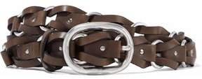 Rag & Bone Mason Ring-Embellished Woven Leather Belt