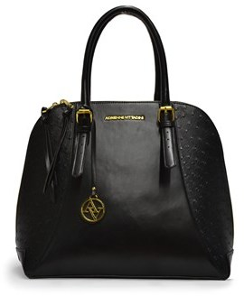 Adrienne Vittadini The Ostrich Collection Large Dome Satchel.