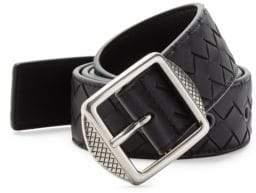 Bottega Veneta Basketweave Buckle Belt