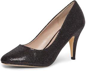 Dorothy Perkins Black Glitter 'Claudia' Court Shoes