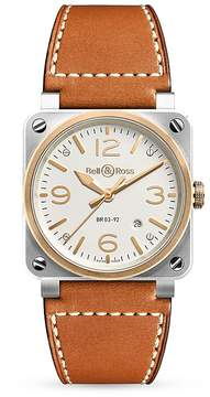 Bell & Ross BR03-92 18K Rose Gold Bezel Watch, 42mm