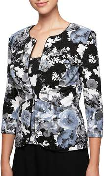 Alex Evenings Floral Print Twinset